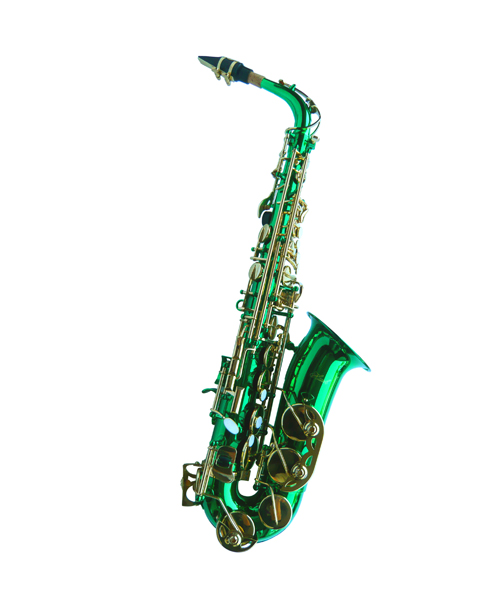 NEW GREEN ALTO SAXOPHONE SAX W/5 YEARS WARRANTY. | eBay