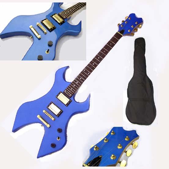 brand new blue electric guitar w bag fantastic ebay. Black Bedroom Furniture Sets. Home Design Ideas